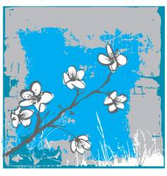 cherry blossom wall vector image