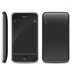 Smart phone on white vector