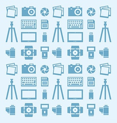 Seamless pattern photographer vector