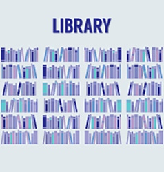 Books in the library without shelf vector