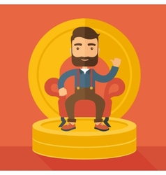 Successful businessman vector