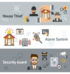 Security banner set vector