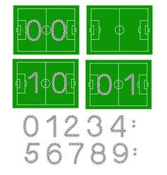 football scores vector image
