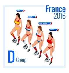European football championship in france group d vector