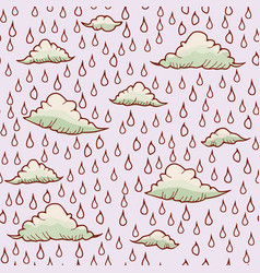 Abstract background with rain and cloud vector