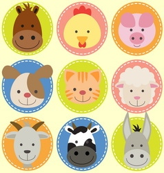 animals face vector image vector image