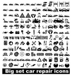 Big set car repair icons vector image
