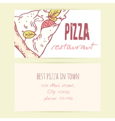 Business card templates with different doodle vector image