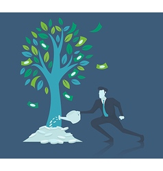 Business concept of growthbusinessman watering mon vector