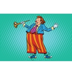Circus clown in bright clothes vector