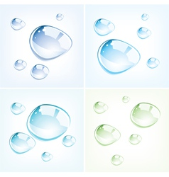 colorful water drops vector image