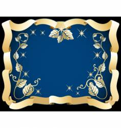 decorative ribbon frames vector image vector image