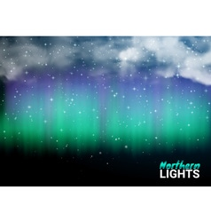 Deep Night Dark Sky Magic Fabulous with Clouds and vector image