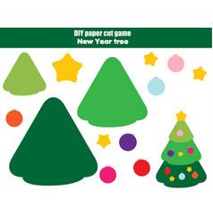 diy children educational creative game paper cut vector image vector image