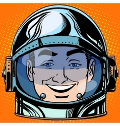 Emoticon joy laughter emoji face man astronaut vector