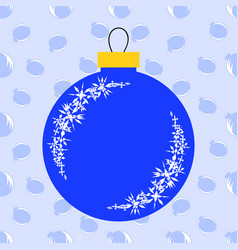 flat insulated blue christmas toy in the form of vector image vector image