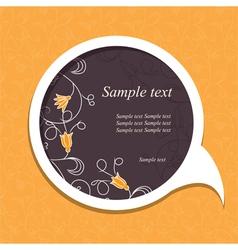 floral speech bubble4 vector image vector image