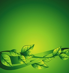 green leaf vector image