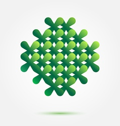 Green symbol made of crosses - nice abstract vector
