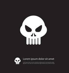 isolated skeleton icon head element can be vector image vector image