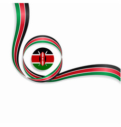 Kenyan wavy flag background vector