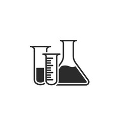 laboratory equipment icon flasks vector image vector image