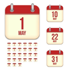 May calendar icons vector image