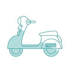 Motorcycle shadow vector