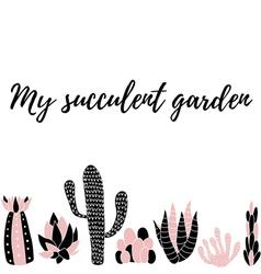 My succulent garden5 vector