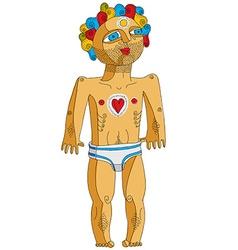 Nude man adam concept hand drawn image vector