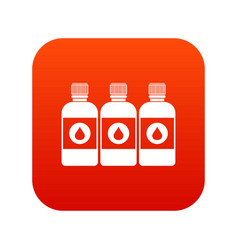printer ink bottles icon digital red vector image