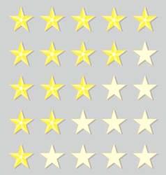 Rank gold stars vector image