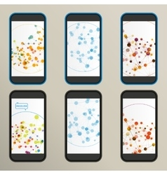 Set of abstract molecule compounds for screens vector image