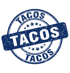 Tacos stamp vector