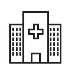 Thin line hospital icon vector