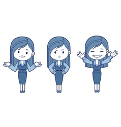 Three character women vector