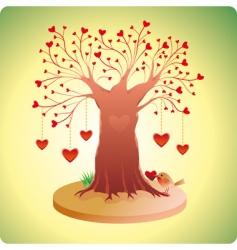 Valentine's tree vector image vector image