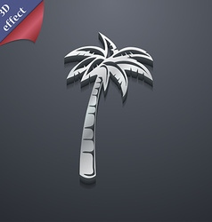 Palm icon symbol 3d style trendy modern design vector