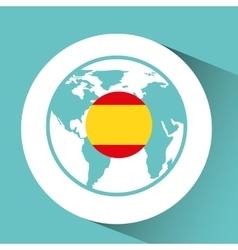 spain flag pin map design vector image