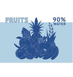 Fruits water vector