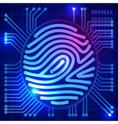 Fingerprint security system vector