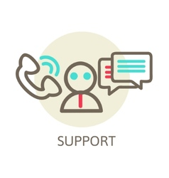 Headset contact live help support icon vector