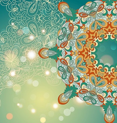 Circle lace hand-drawn abstract background vector image