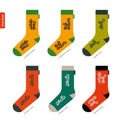 Set of socks with telugu indian characters vector