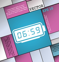 Alarm clock icon sign modern flat style for your vector