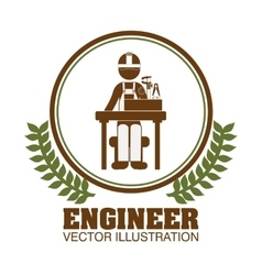Engineer concept design vector
