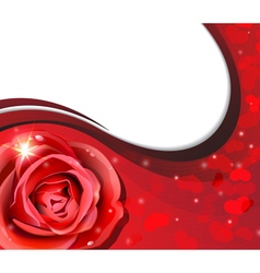 Rose and hearts silhouettes vector