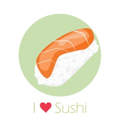 A sushi roll vector