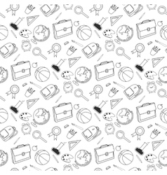 Back to school lineart set various school stuff vector
