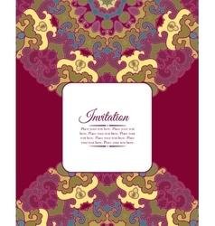 Card or invitation Vintage decorative ornament vector image